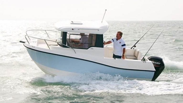 Arvor 555 Sportfish on display at Sydney Boat Show