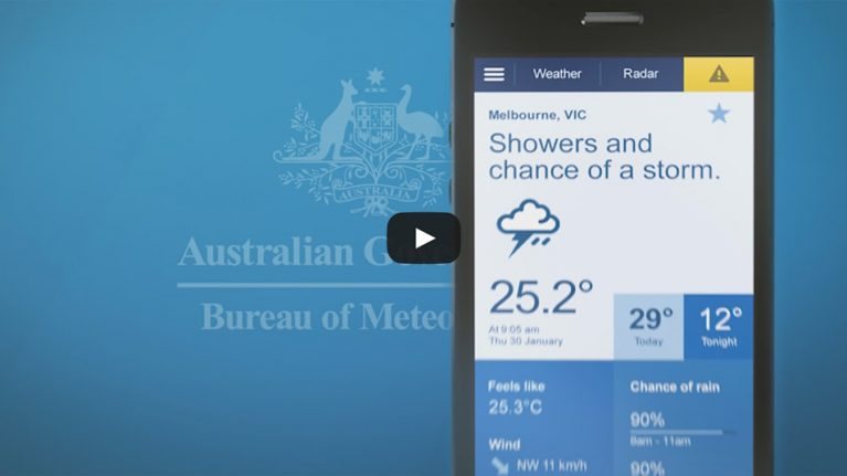 Forecasts at your fingertips with BOM Weather app