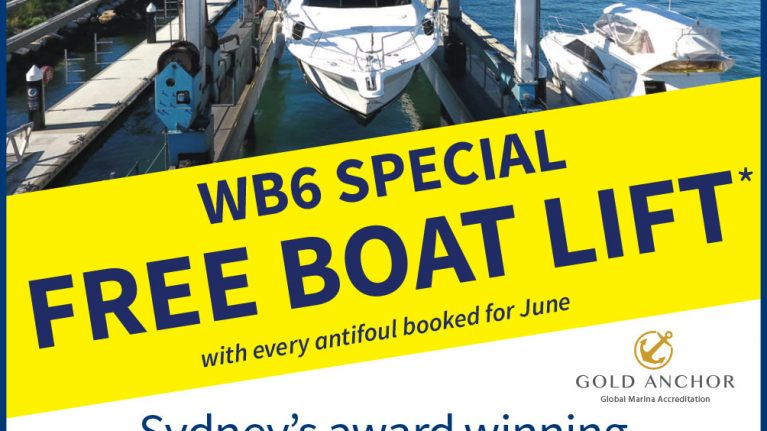 FREE lift at WB6 for your June antifoul!