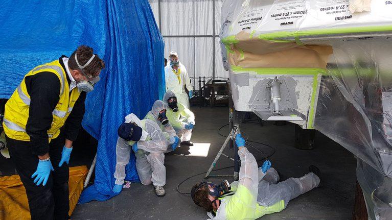 Spray paint training